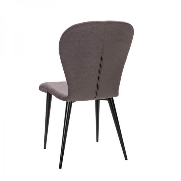 Chaise made in France avec pieds métal et tissu gris - Lila Eco - 8
