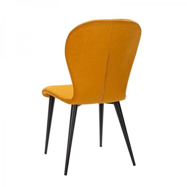 Chaise en tissu jaune avec pieds métal française - Lila Eco - 16