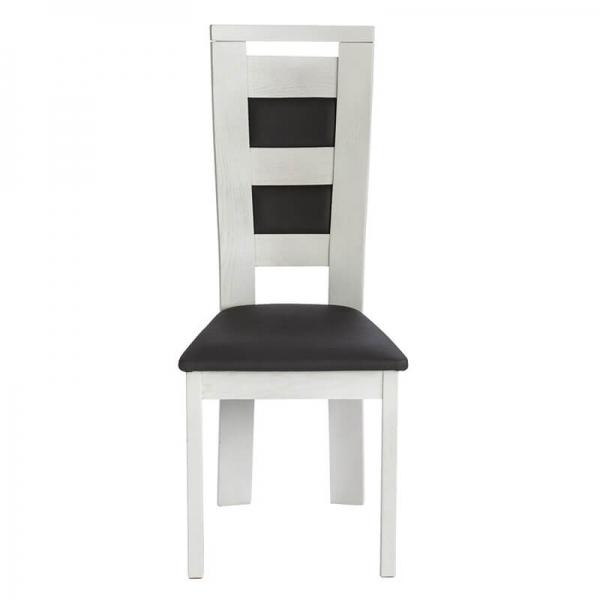 Chaise made in France en bois massif et revêtement synthétique - Lize - 4