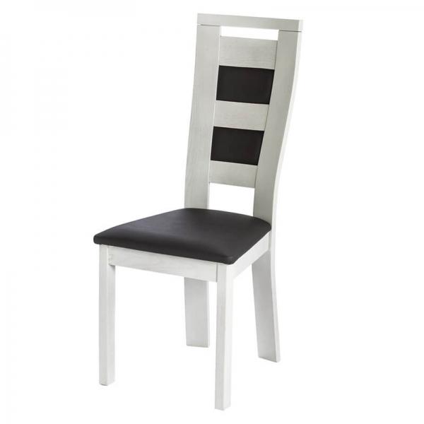 Chaise en synthétique et bois massif fabrication française - Lize - 2