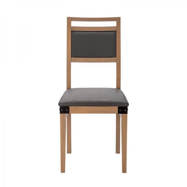 Chaise française industrielle en bois et synthétique - Factory - 3