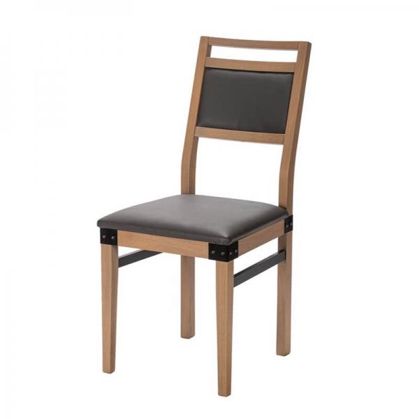 Chaise style industriel en bois et synthétique made in France - Factory - 4