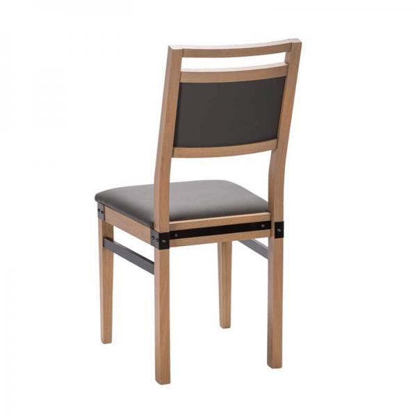 Chaise française en synthétique et bois style industriel - Factory - 2