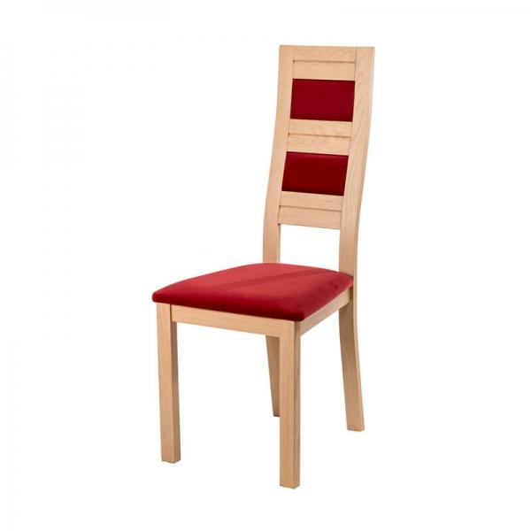 Chaise made in France dossier haut en bois et tissu - Zara - 3