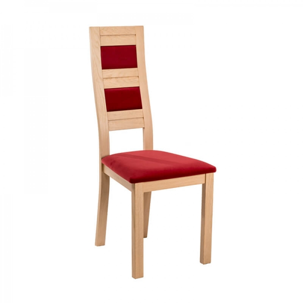 Chaise dossier haut fabrication française en bois et tissu - Zara - 1