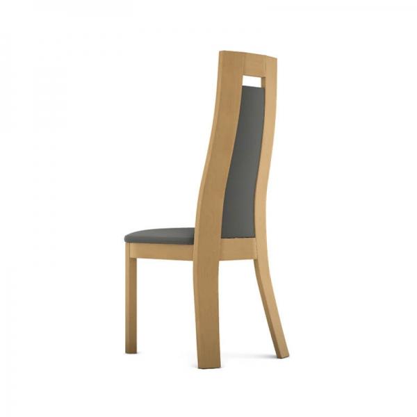 Chaise contemporaine en synthétique et bois massif made in France - Cera  - 2