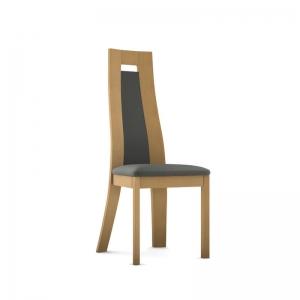 Chaise française en synthétique et bois massif - Cera
