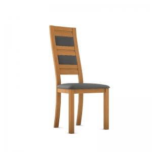 Chaise contemporaine made in France en bois massif et synthétique - Zara