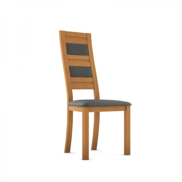 Chaise contemporaine made in France en bois massif et synthétique - Zara - 1