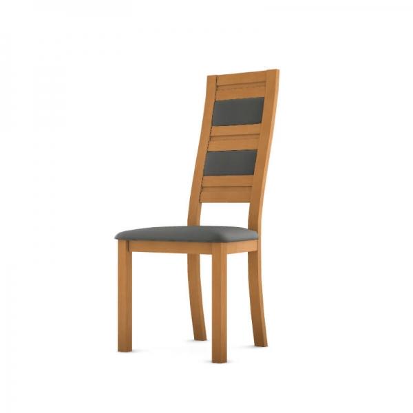 Chaise française en bois avec revêtement synthétique - Zara - 2