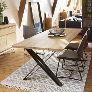 Table design style industriel pieds en X - Fusion