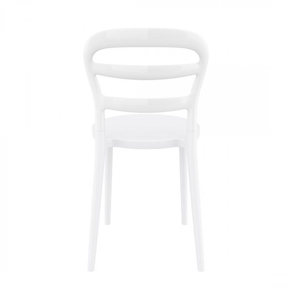 Chaise en polypropylène blanc - Miss Bibi - 3