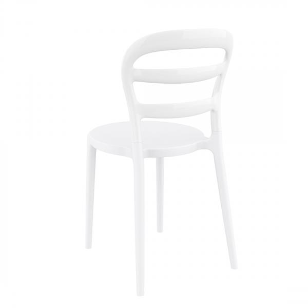 Chaise tendance en polypropylène blanc - Miss Bibi - 2