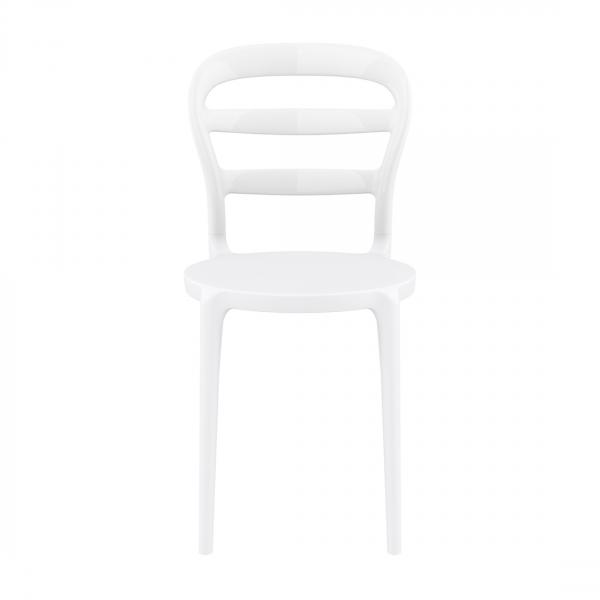 Chaise moderne en plastique blanc - Miss Bibi - 4