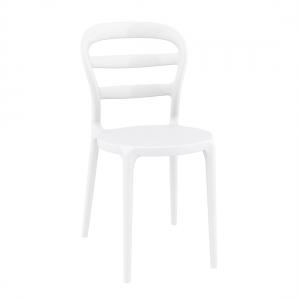 Chaise moderne en polypropylène blanc - Miss Bibi