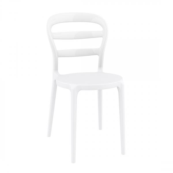 Chaise moderne en polypropylène blanc - Miss Bibi - 1