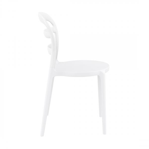 Chaise tendance en plastique blanc - Miss Bibi - 5