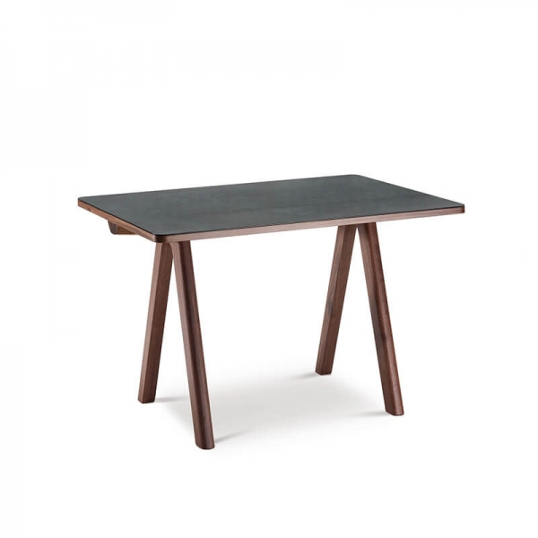 Bureau en bois et céramique origine France - 1