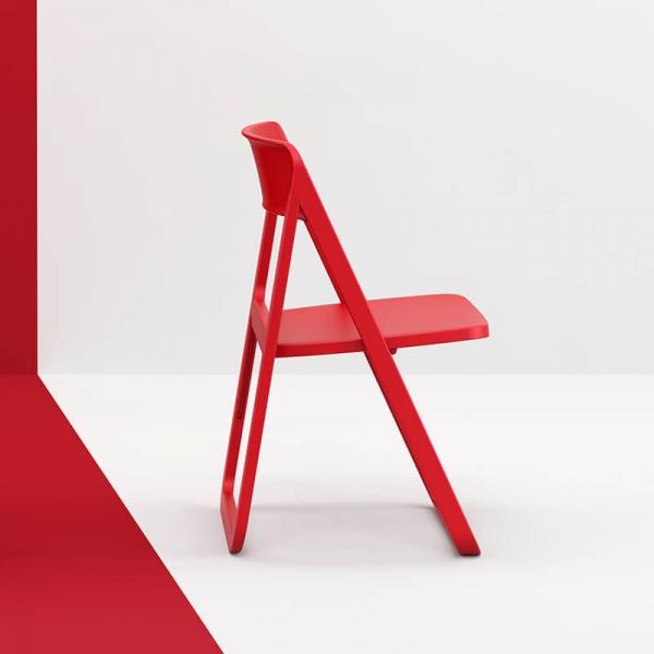 Chaise de jardin pliable en polypropylène rouge - Dream - 22