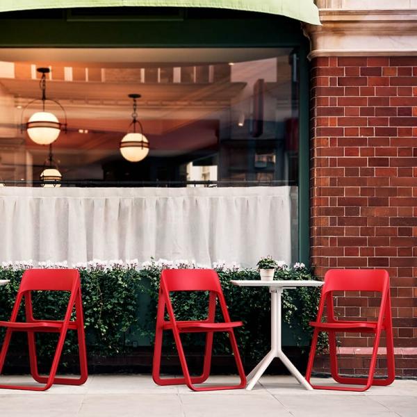Chaise d'extérieur pliante rouge  - Dream - 21