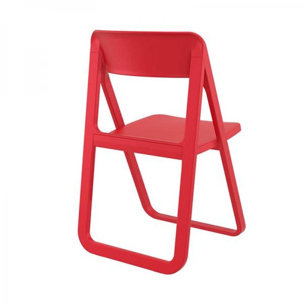 Chaise de salle à manger pliante en polypropylène rouge - Dream - 17