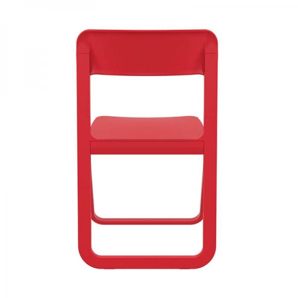Chaise de jardin pliable rouge en plastique - Dream - 17