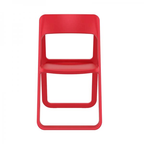 Chaise de jardin pliable en polypropylène rouge - Dream - 19