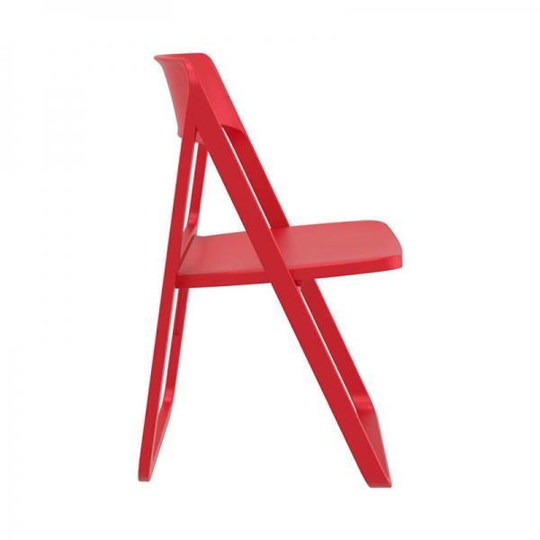 Chaise d'extérieur pliante rouge  - Dream - 20