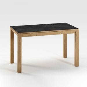 Bureau avec tiroirs en bois et céramique