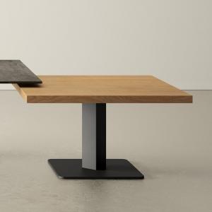 table basse carrée en stratifié et métal ibero mini