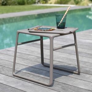 Table basse de jardin carrée empilable en polypropylène - Pop
