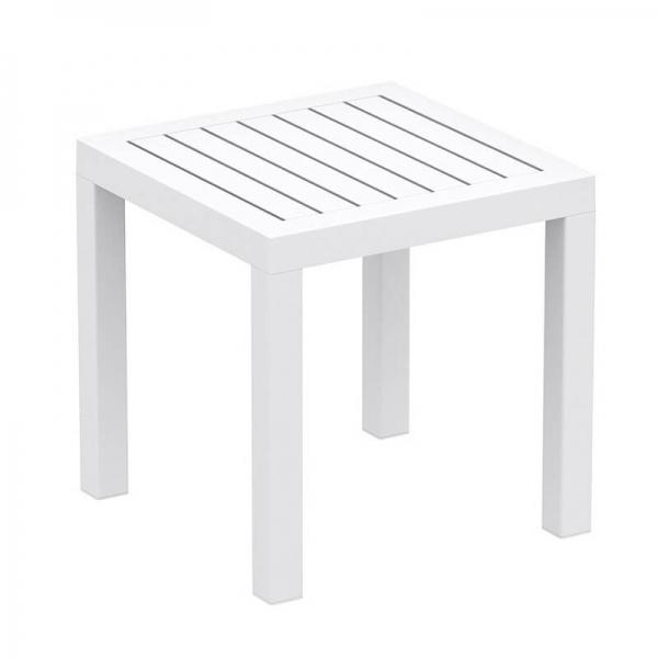 Table de terrasse carrée en résine - 12