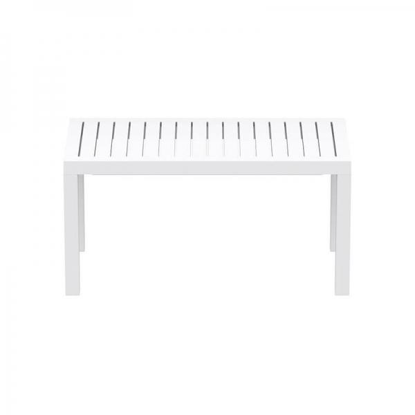 Table de jardin blanche en résine - 13