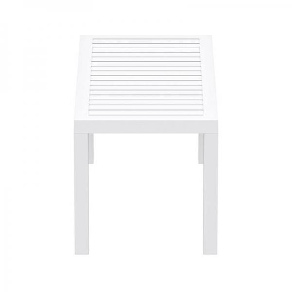 Table de terrasse blanche en résine - 18