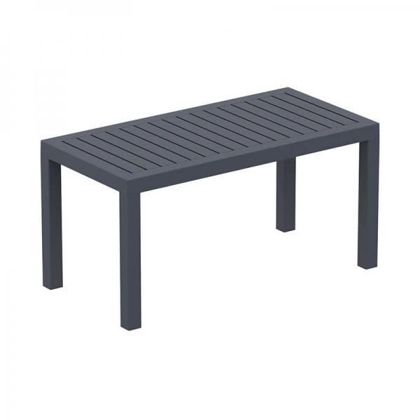 Table de jardin en plastique rectangle - 10