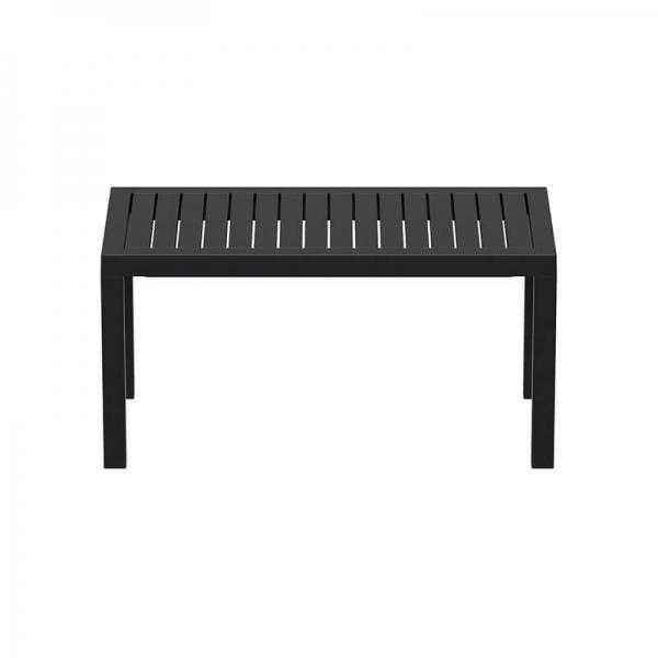 Table de terrasse noire rectangle en résine - 16