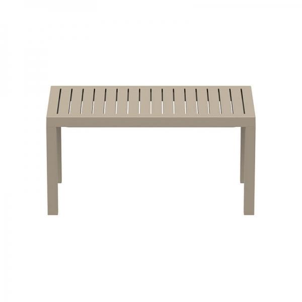 Table de terrasse rectangle en résine - 14