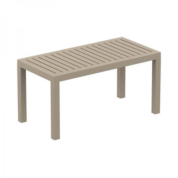 Table de jardin en résine rectangle - 9