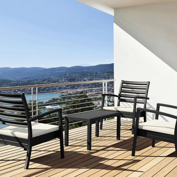 Table en plastique rectangulaire pour terrasse - 4