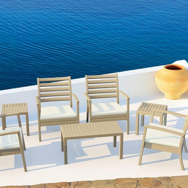 Table en résine rectangulaire pour terrasse - 2