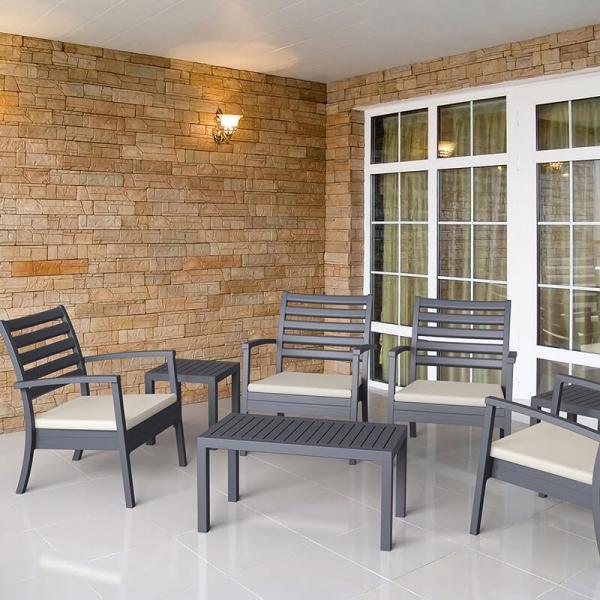 Table rectangle en résine pour terrasse - 6