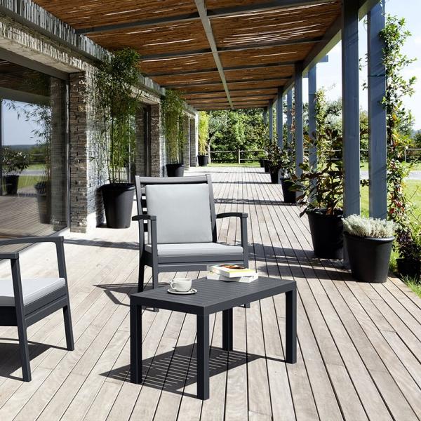 Table de jardin rectangulaire en résine - 3