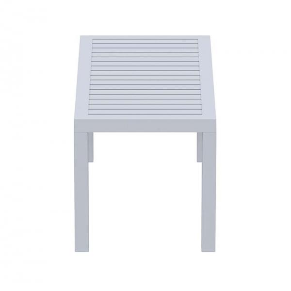 Table basse de jardin en plastique gris clair - 22