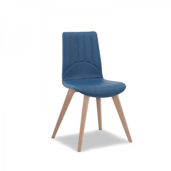 Chaise made in Italy en synthétique et en bois - 1