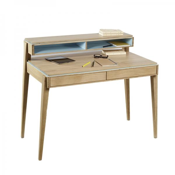 Bureau en bois avec rangements made in France - 4