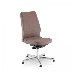 Chaise de bureau réglable en hauteur avec dossier ajustable et patins