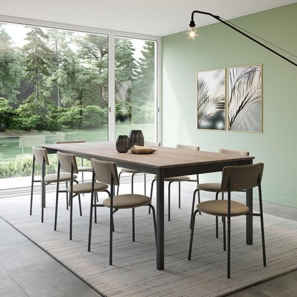 Table de salle à manger extensible de fabrication belge - Cabrio - 2