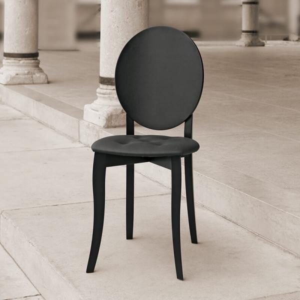 Chaise médaillon tendance italienne noire - Antonietta - 2