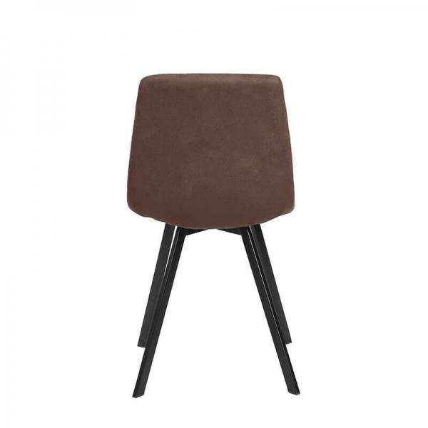 Chaise de salle à manger confortable en tissu marron - Carvi - 21