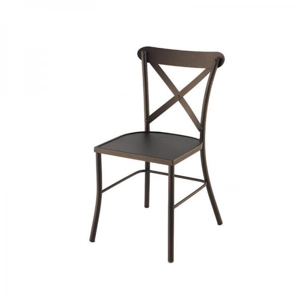 Chaise de terrasse en acier noir - Manila - 2